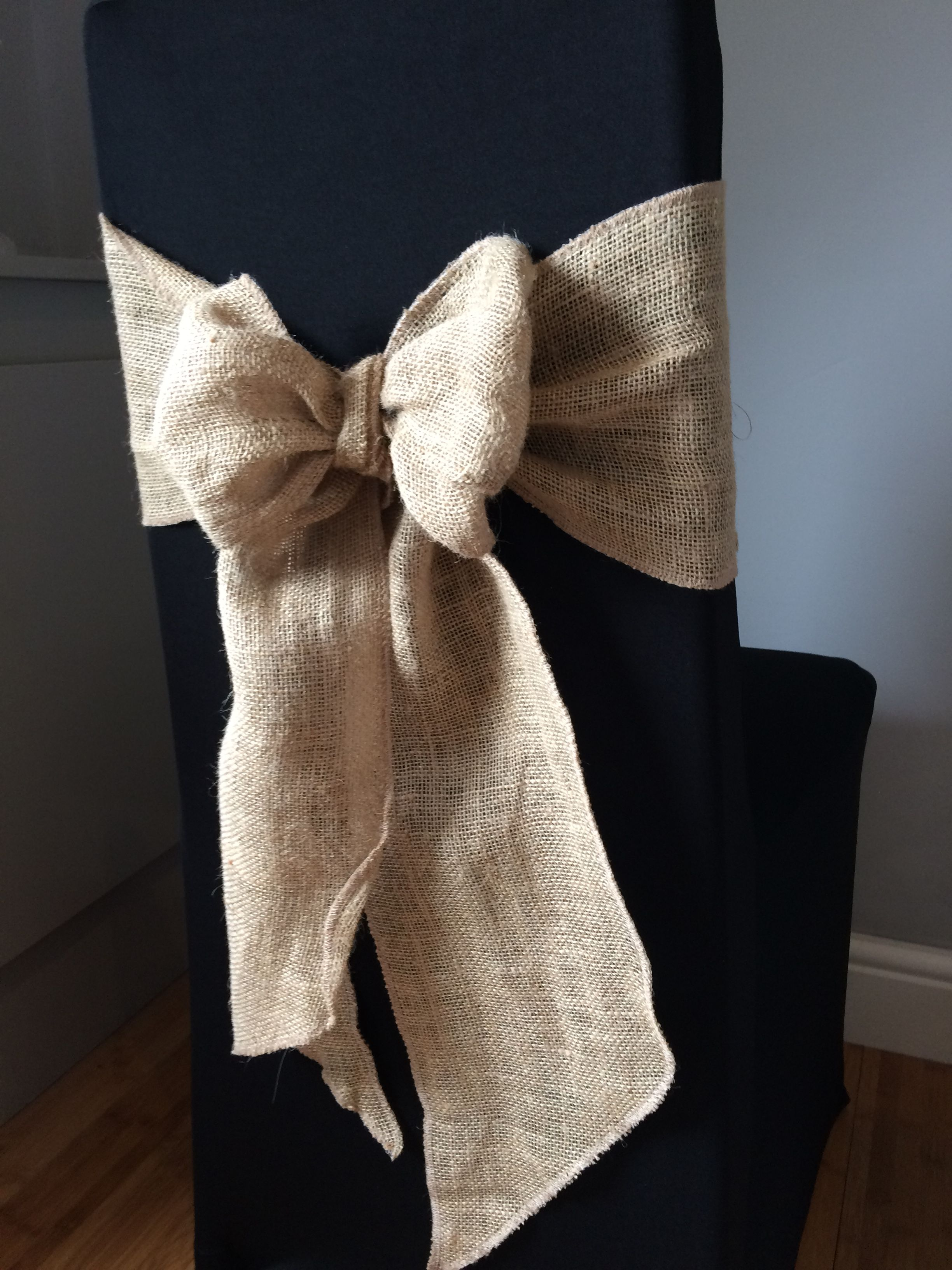 Chair Covers And Sashes To Hire Plastic Glides Black With Hessian Sash Available