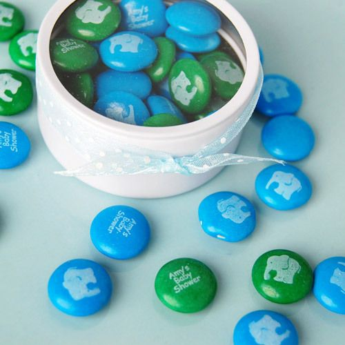 Personalized Baby Shower Mint Chocolate Candy by Beau-coup