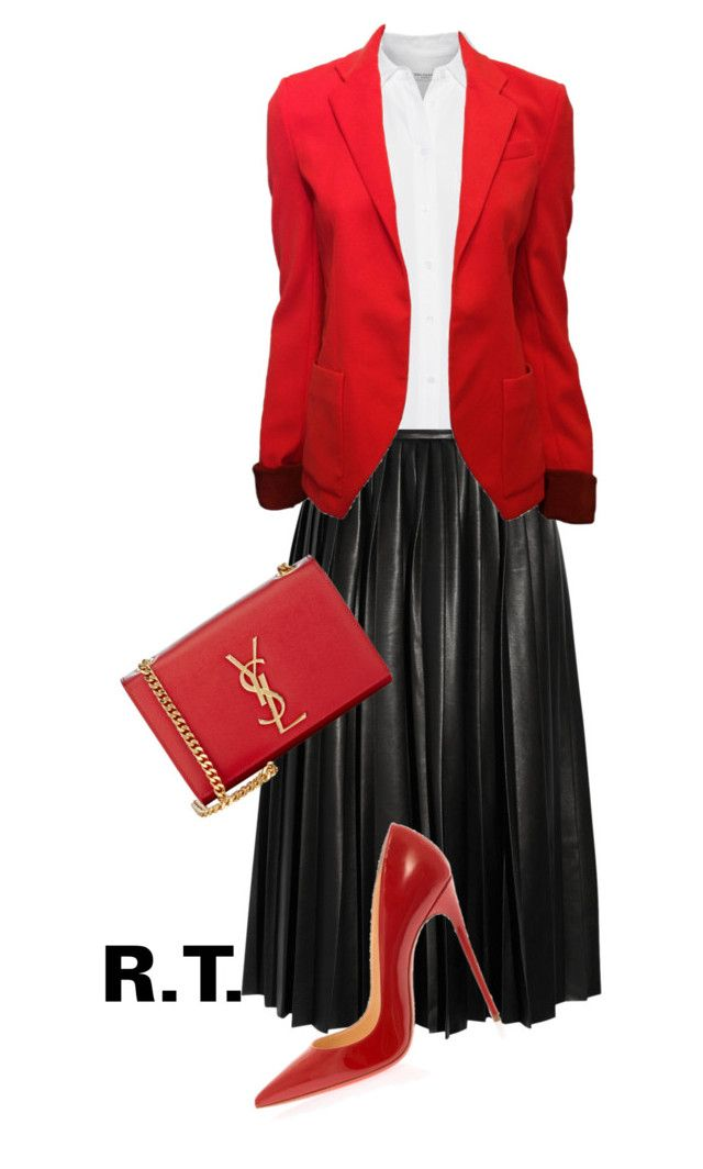 """""""R.T.-579 red bags-2"""" by sopo-davituri ❤ liked on Polyvore featuring By Malene Birger, Christian Louboutin, Yves Saint Laurent, Equipment and Balenciaga"""