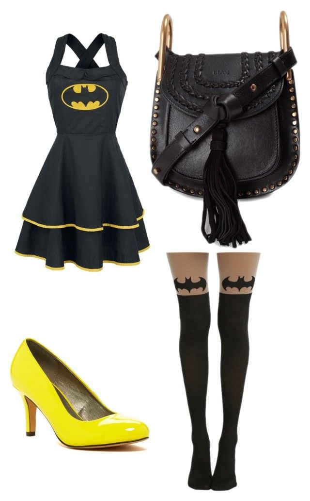 """Batman"" by barbara-sprague ❤ liked on Polyvore featuring Michael Antonio and Chloé"