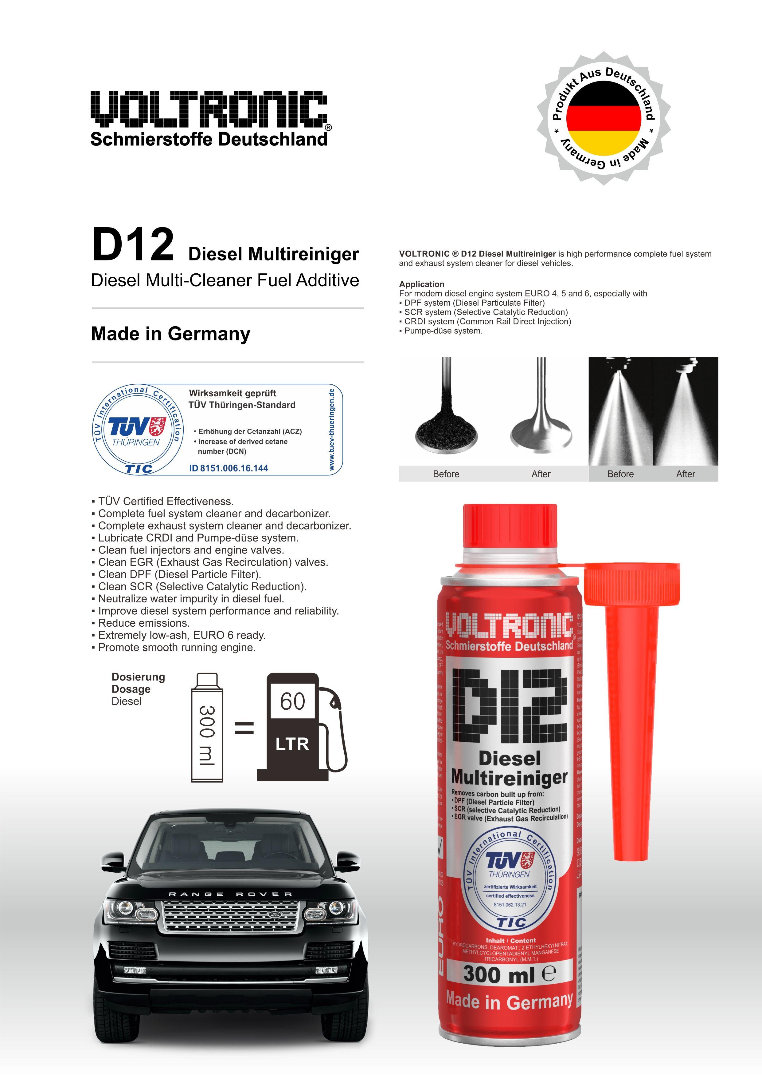 Voltronic D12 Diesel Multireiginer Multi Cleaner Fuel Additive Diesel Fuel Additives Reviews