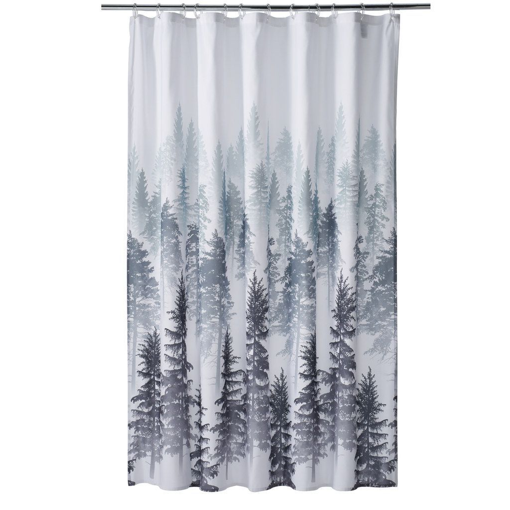 The Big One Forest Shower Curtain Shower Curtain Curtains