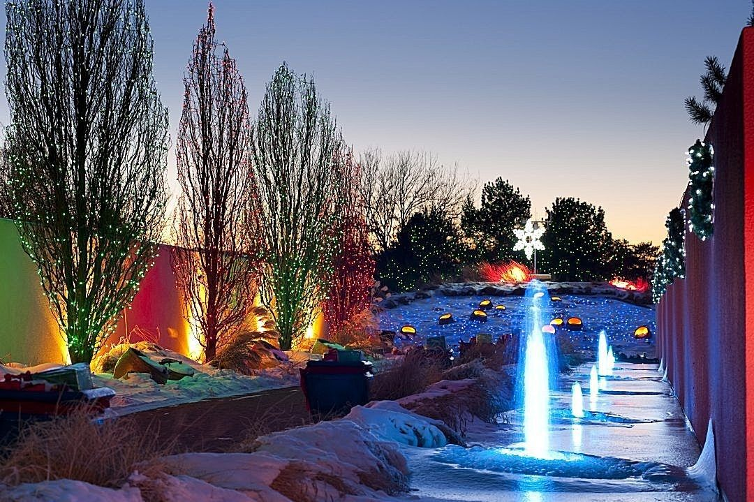 CO Christmas lights at the Blossoms of Light display