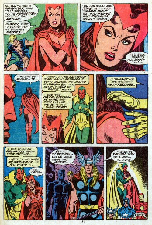 Image result for the vision avengers comics