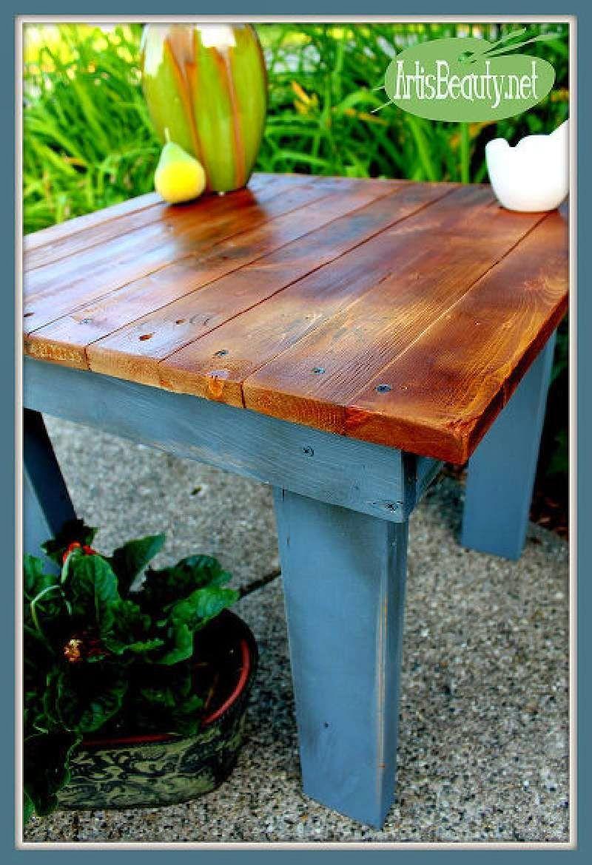 Muebles de palets como construir una mesa auxiliar for Mesas de palets para jardin