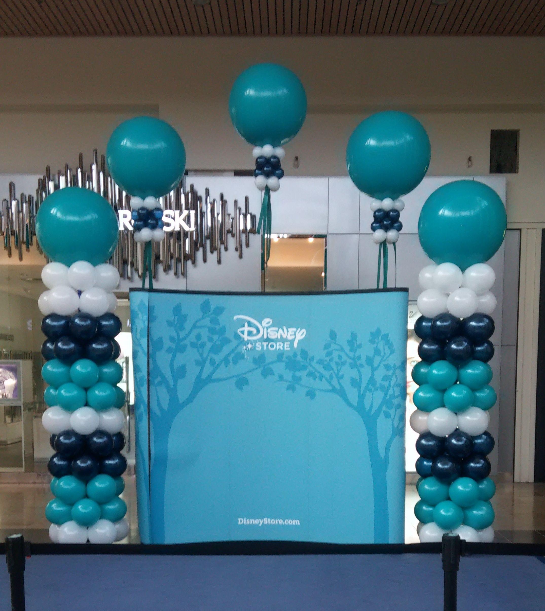 Grand opening ensemble with big balloons big balloons