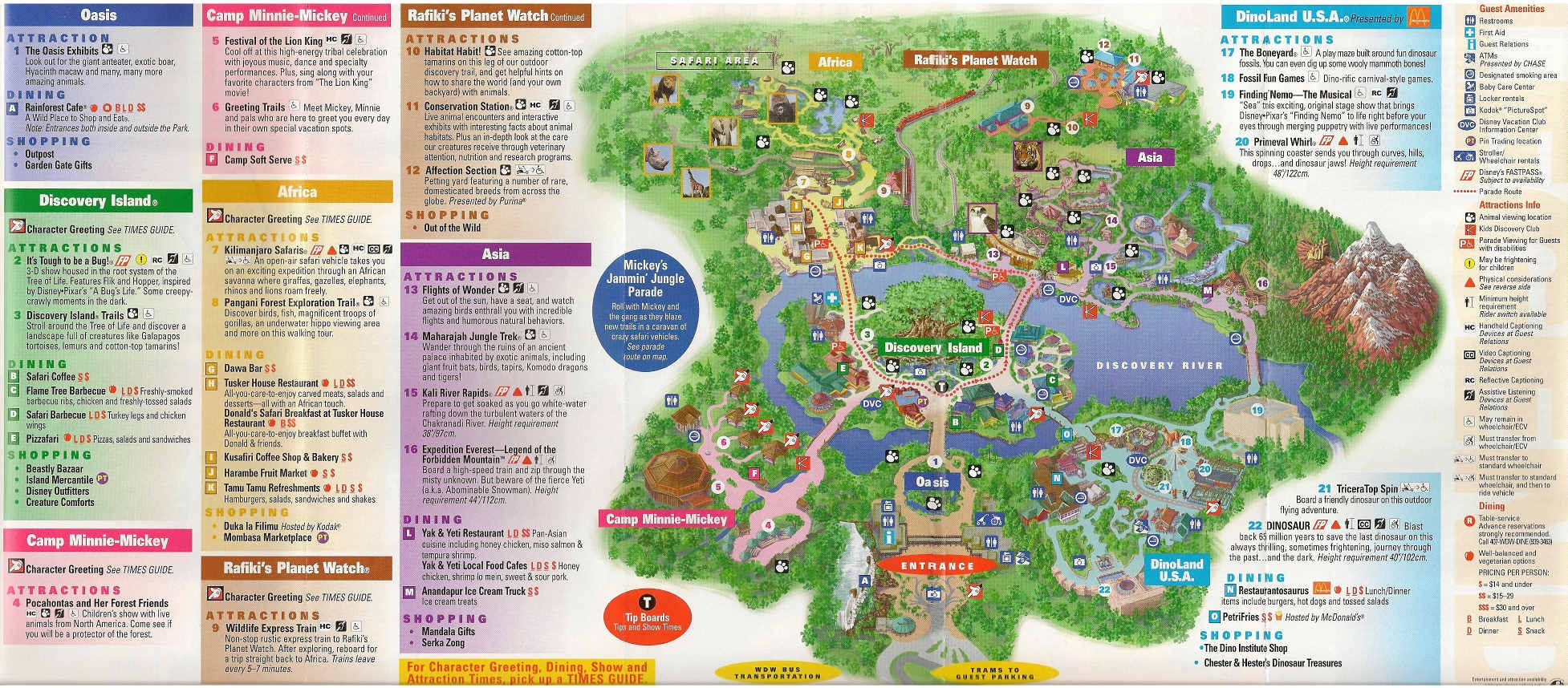 San Francisco Map Attractions Pdf%0A Discovery Island in Disney World Guide Map  Disney WOrld  u     mappery