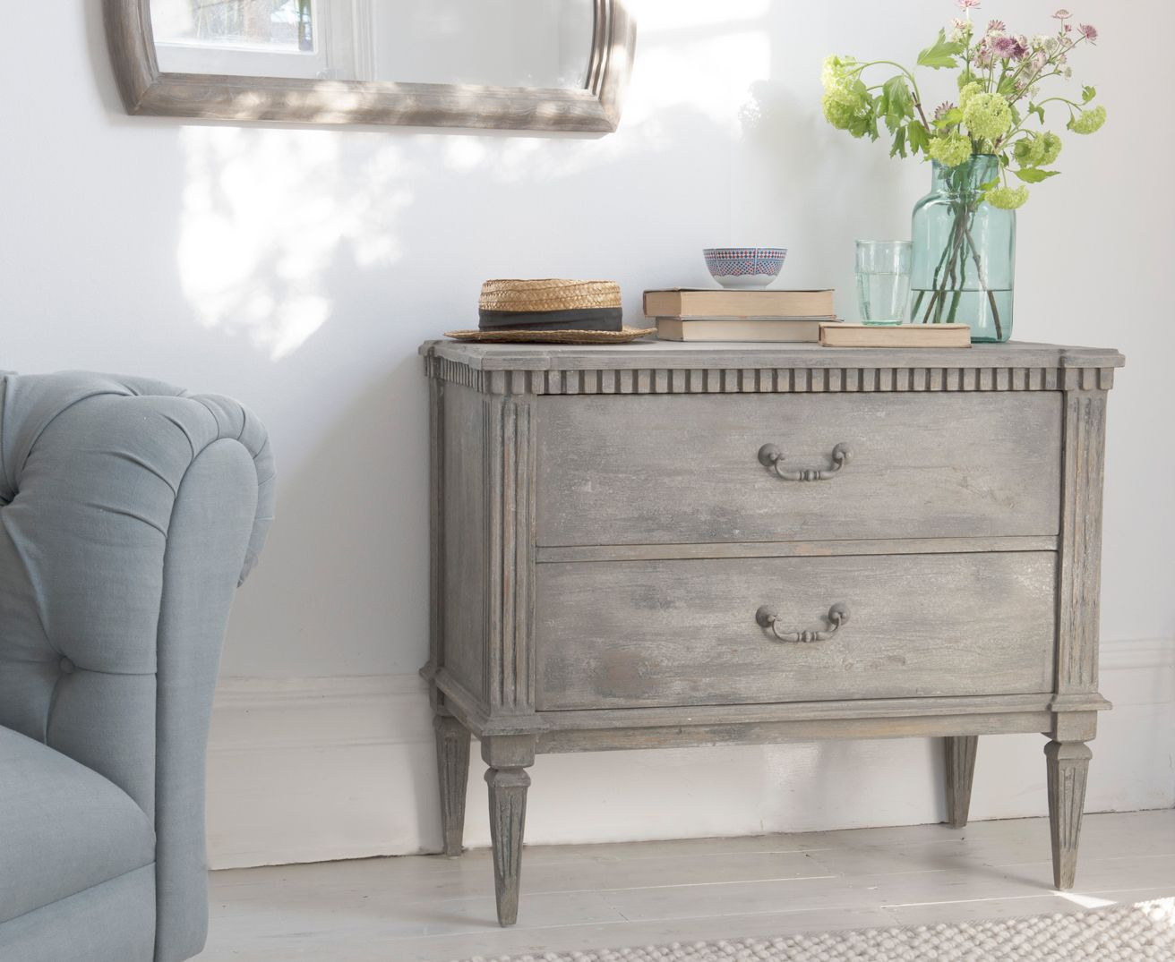 End of hallway decor  Tabitha  Drawers Grey chests and Bedrooms