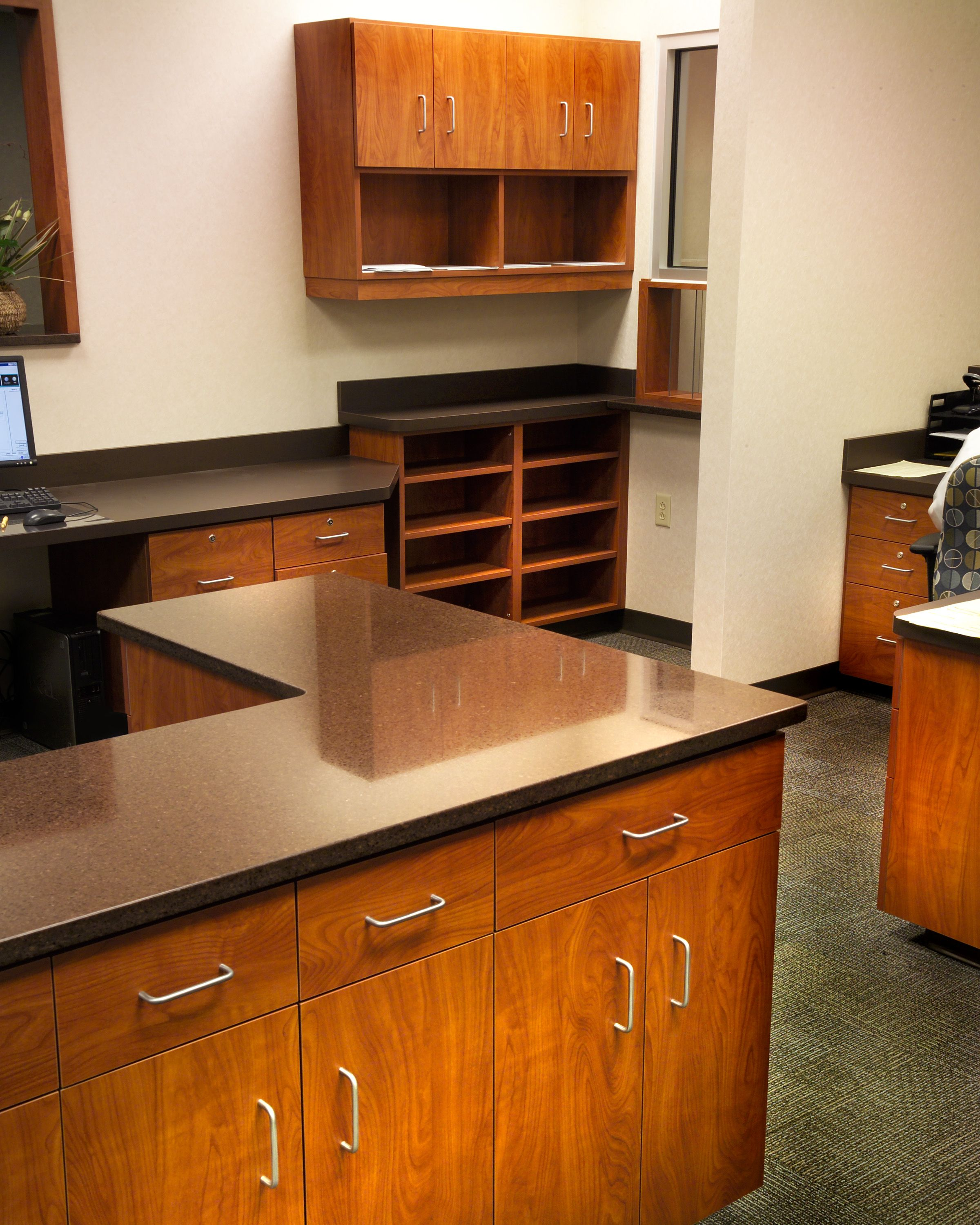 Plastic Laminate Cabinetry In Work Room Toledo Orthopaedic Surgeons Kitchen Cabinets Countertop Options Countertops