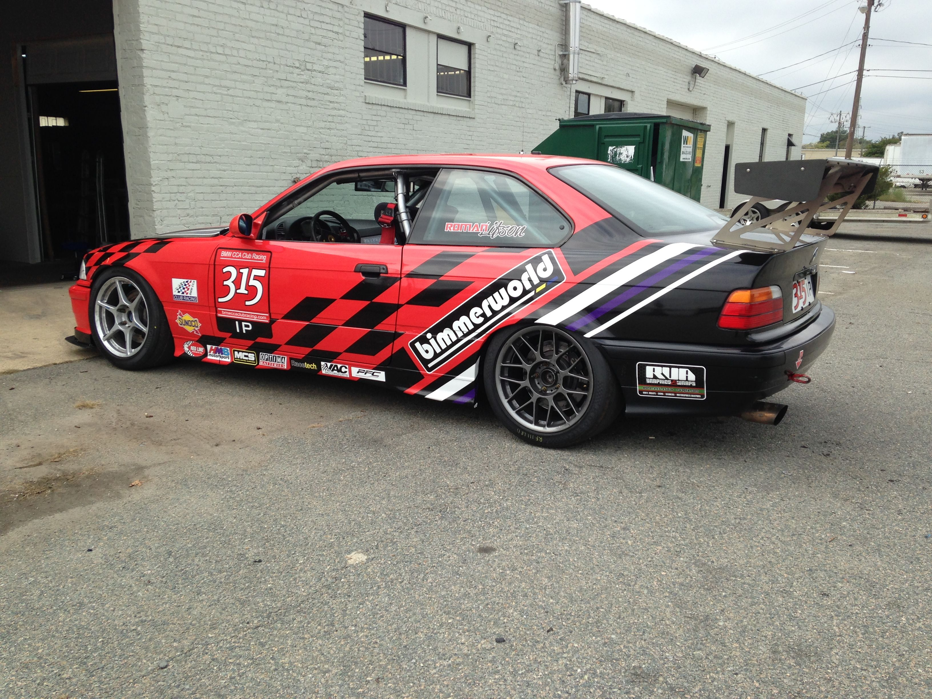 Roadrace M BMW Vinyl Wrap Designed And Installed By Robert - Vinyl decals for race carsbmw race car wraps by graphios