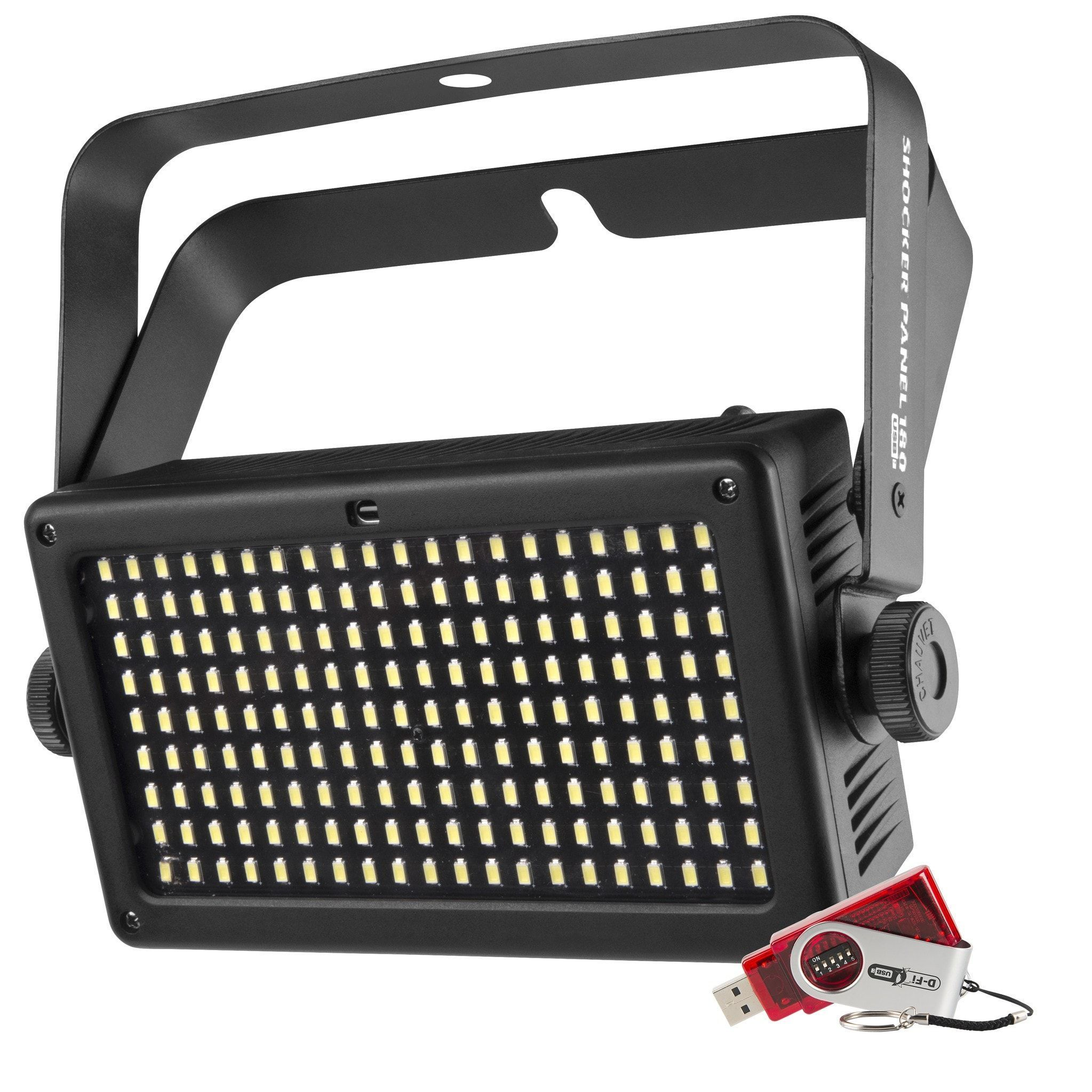 Chauvet Shocker Panel 180 Usb Strobe Light Products Power Led High Creates Attractive Effects Using 4 Zones Of Control Rugged Die Cast Housing Makes It Ideal For Mobile