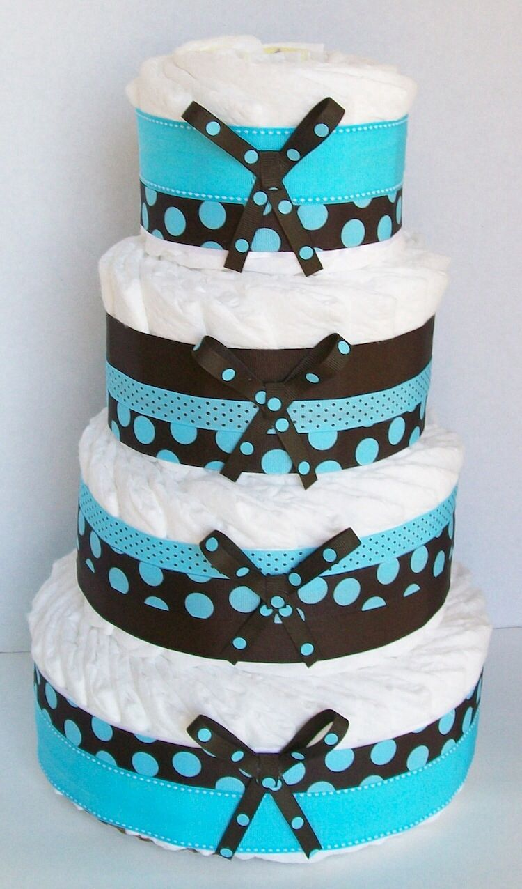 Diaper Cake Diy diaper cake, Diaper cake boy, Baby