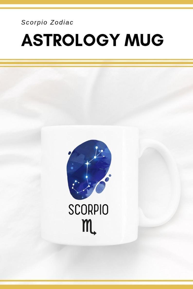 Astrology Mug Scorpio Constellation Gift Horoscope Gift Zodiac Sign Gift Mugs With Sayings Mothers Day Gift Graduatio In 2020 Horoscope Gifts Mugs Astrology Gift