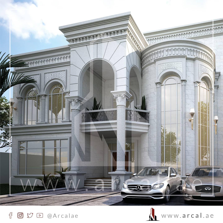 تصميم جديد لڤيلا بستايل النيو كلاسيك لها مدخل محدد بعمودين على ارتفاع الواجهة و خطوط حادة تعطي الهيبة و الفخامة للمبنى تتألف من Building Marina Bay Landmarks
