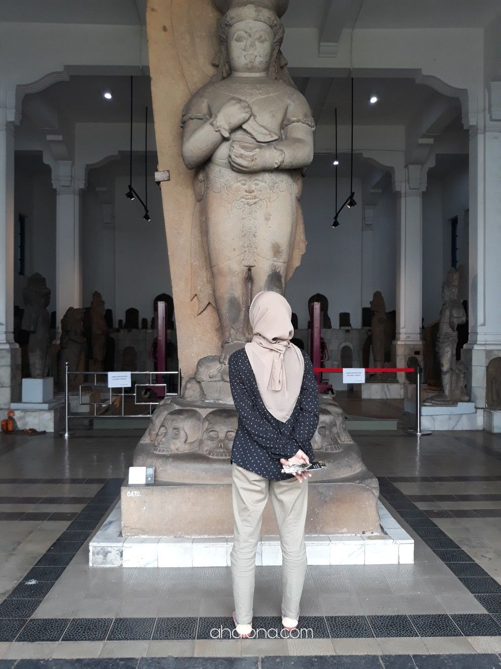 Patung Bhairawa di Museum nasinal. Patung tertinggi.