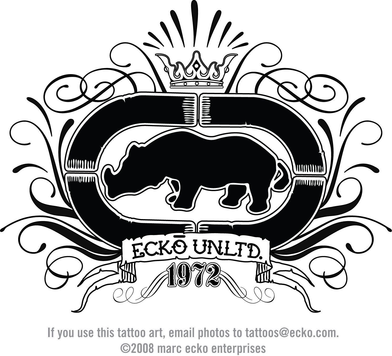 2019 year lifestyle- Logo Ecko black
