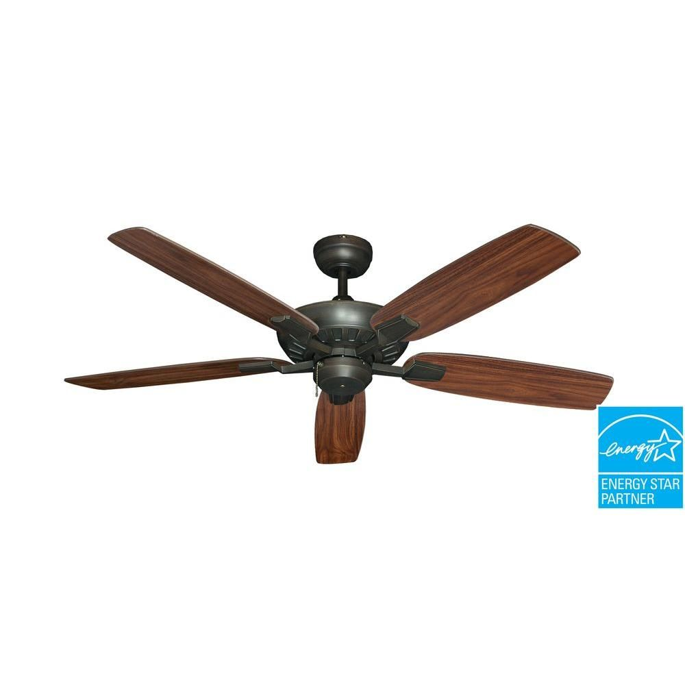 Troposair Saturn 52 In Oil Rubbed Bronze Ceiling Fan Ceiling Fan Bronze Ceiling Fan Traditional Ceiling Fans