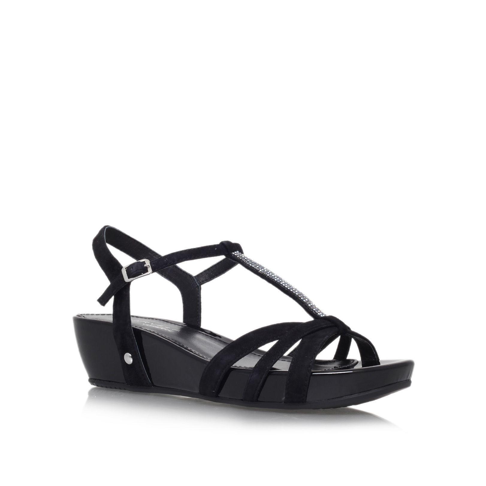 Carvela Solar low wedge heel sandals, Black