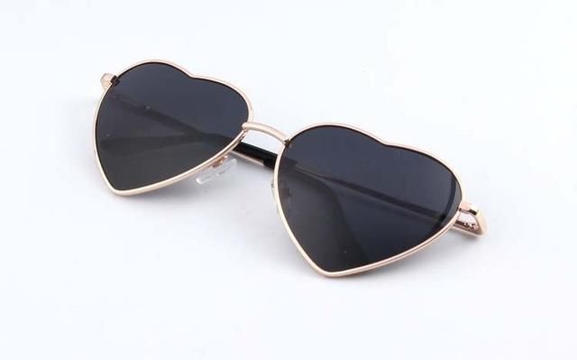 efc8d3364ed37 Women Heart Shaped Mirror Sunglasses. Heart Shaped Metal Frame Reflective  Lens ...
