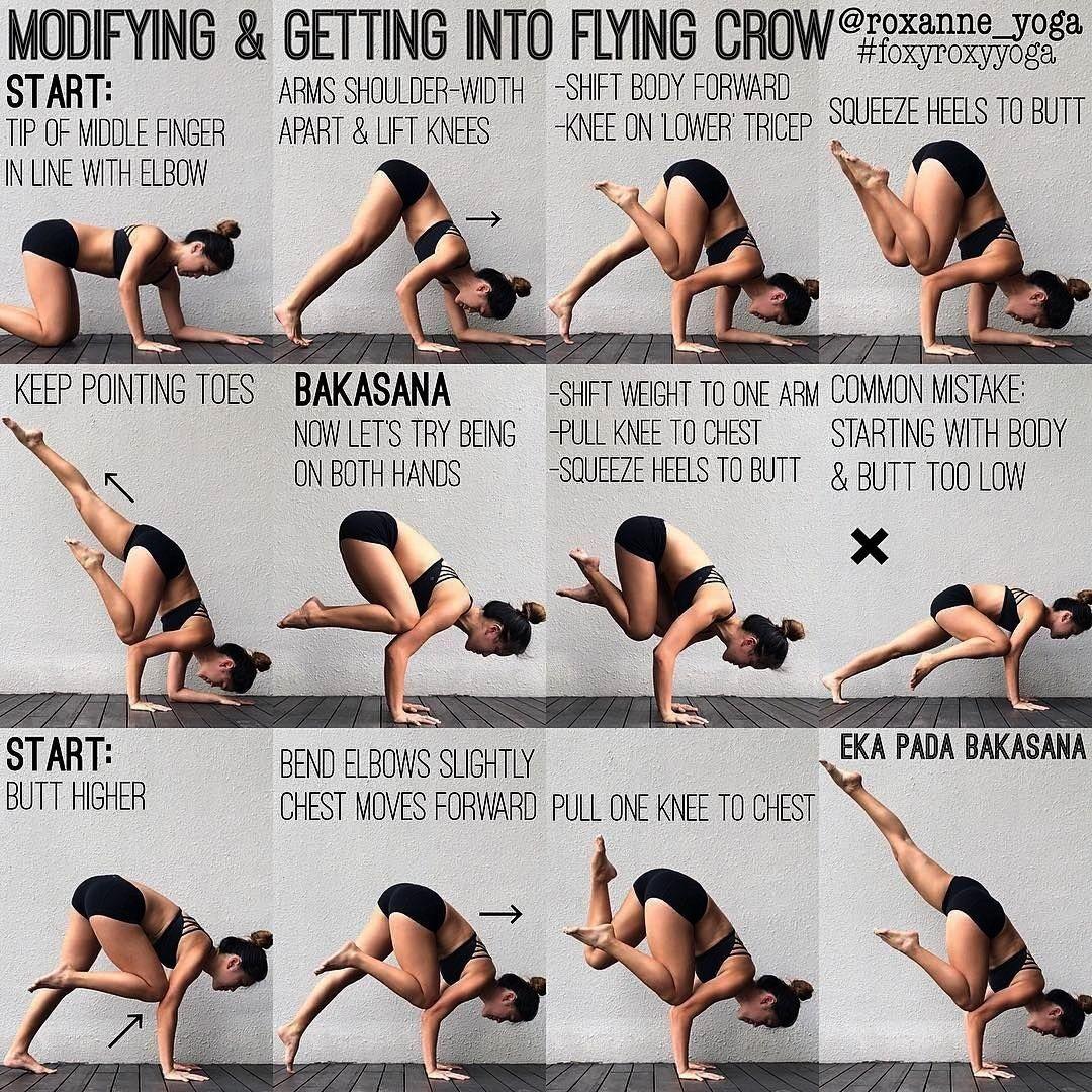 #deloziertutorials #roxanneyoga #instagram #übungen #bakasana #fitness #trogdon #flying #legged #fra...