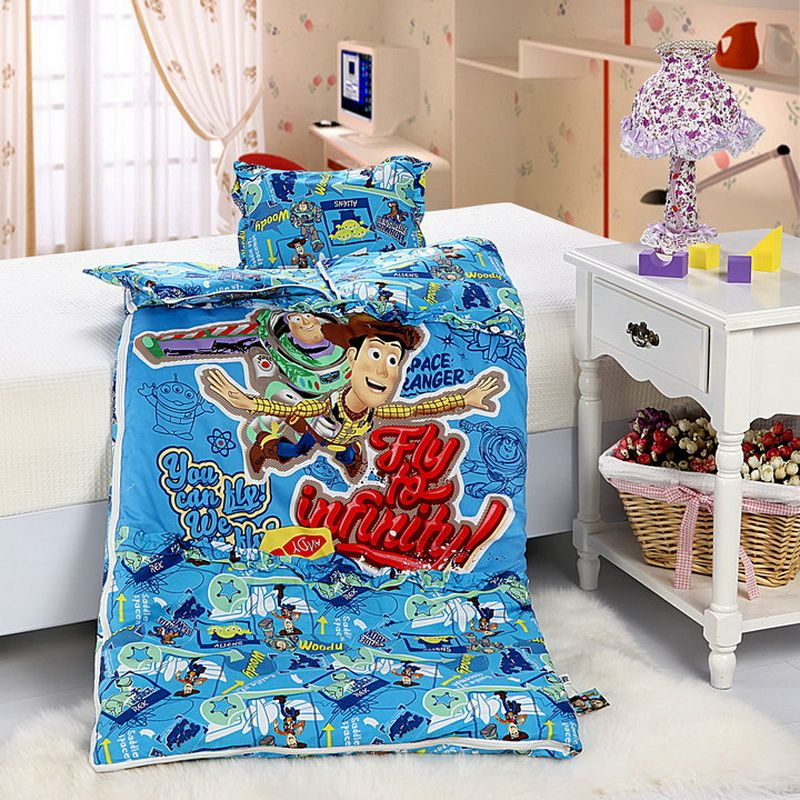 Toy Story Blue Disney Sleeping Bag Sets Disney comforter