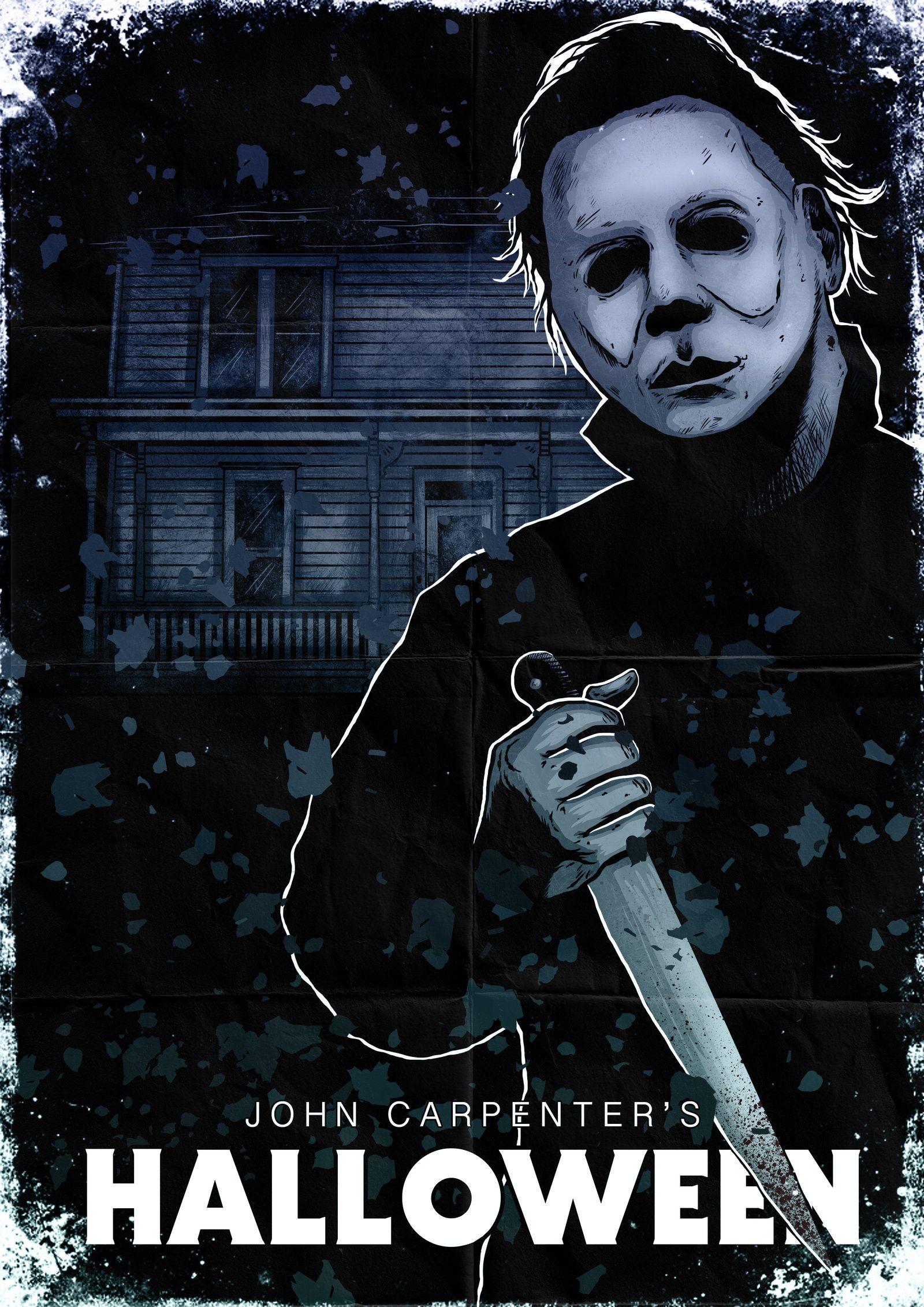 michael myers halloween poster by liquid venom on deviantart - Michael Myers Halloween Decorations