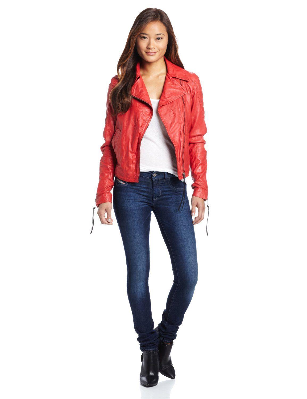 Amazon Com Diesel Women S Sienna Leather Jacket Clothing Leather Jacket Jackets 1960s Fashion [ 1500 x 1154 Pixel ]