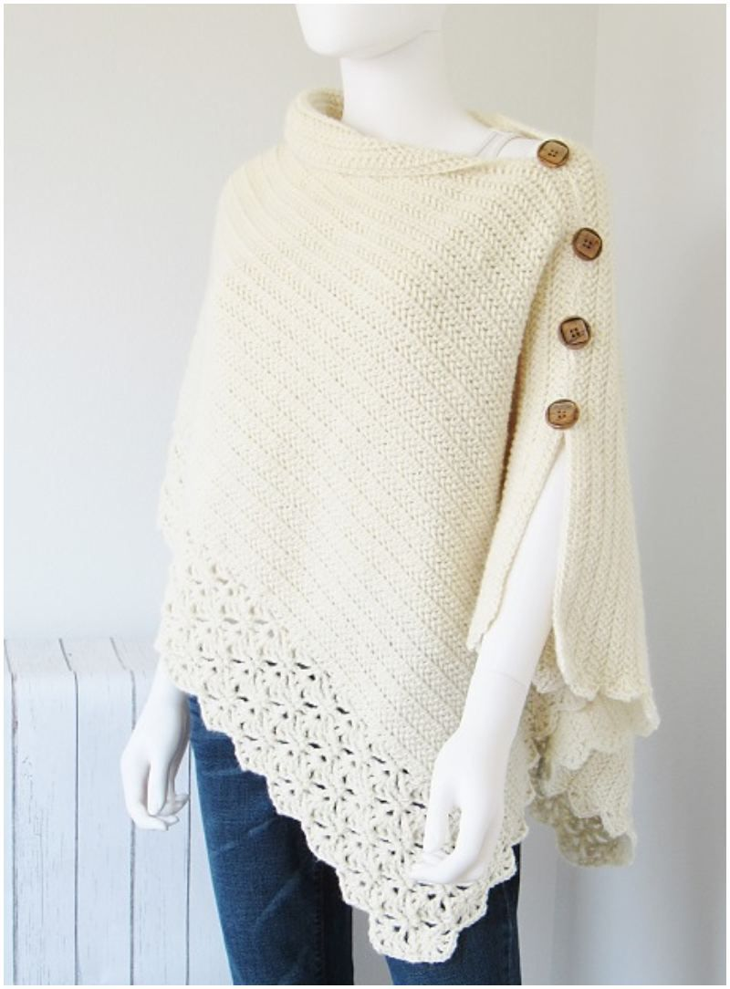 Easy Uptown Crochet Poncho for Beginners [FREE] #ponchosweater