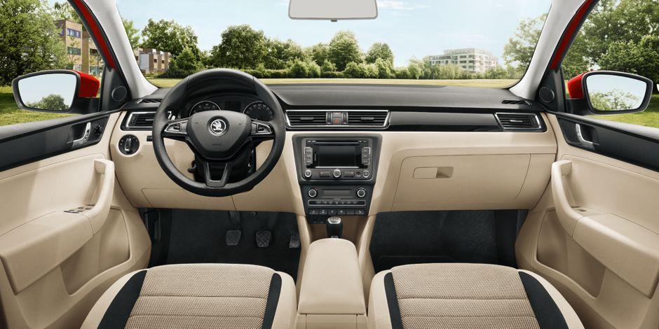 skoda rapid beige interior   skoda rapid   Pinterest   Car interiors ...