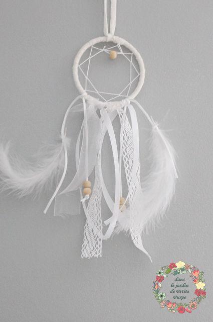 mini attrape reves mini dreamcatcher boho chic retoviseur voiture plumes perles en bois. Black Bedroom Furniture Sets. Home Design Ideas