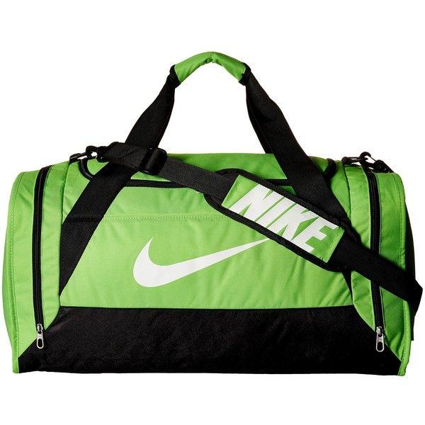2c7ca4503c74 Nike Brasilia 6 Medium Duffel (Action Green Black White) Duffel Bags ( 33)  ❤ liked on Polyvore featuring bags