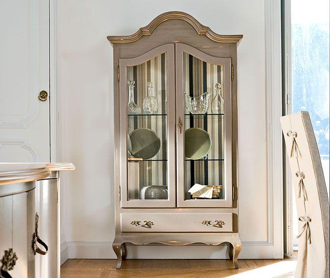 Vitrina vintage vitrinas y arrimos pinterest for Muebles restaurados vintage