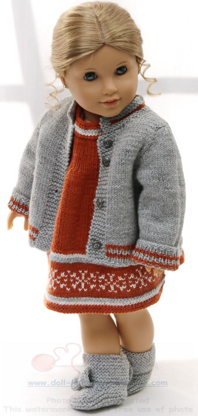 strickanleitung puppenkleider - Herbstmode für Ihre Puppe in rost ...