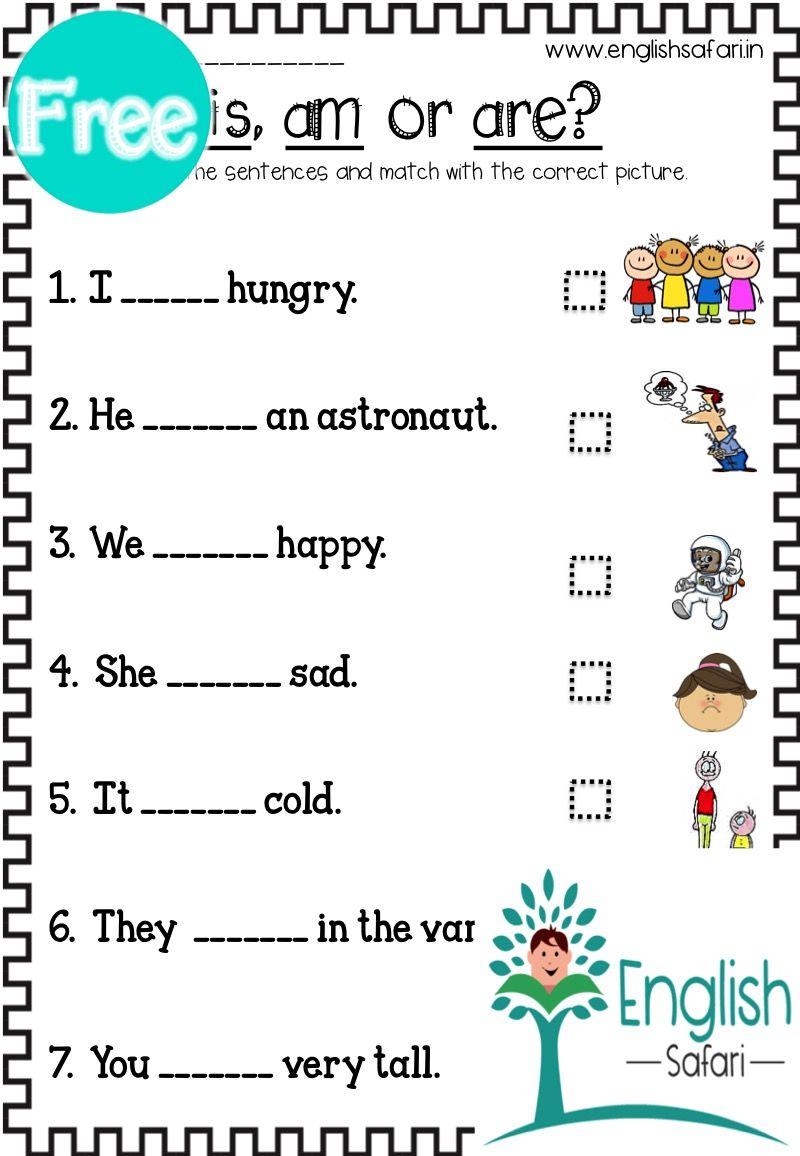 medium resolution of FREE** is am are worksheet www.englishsafari.in   Linking verbs