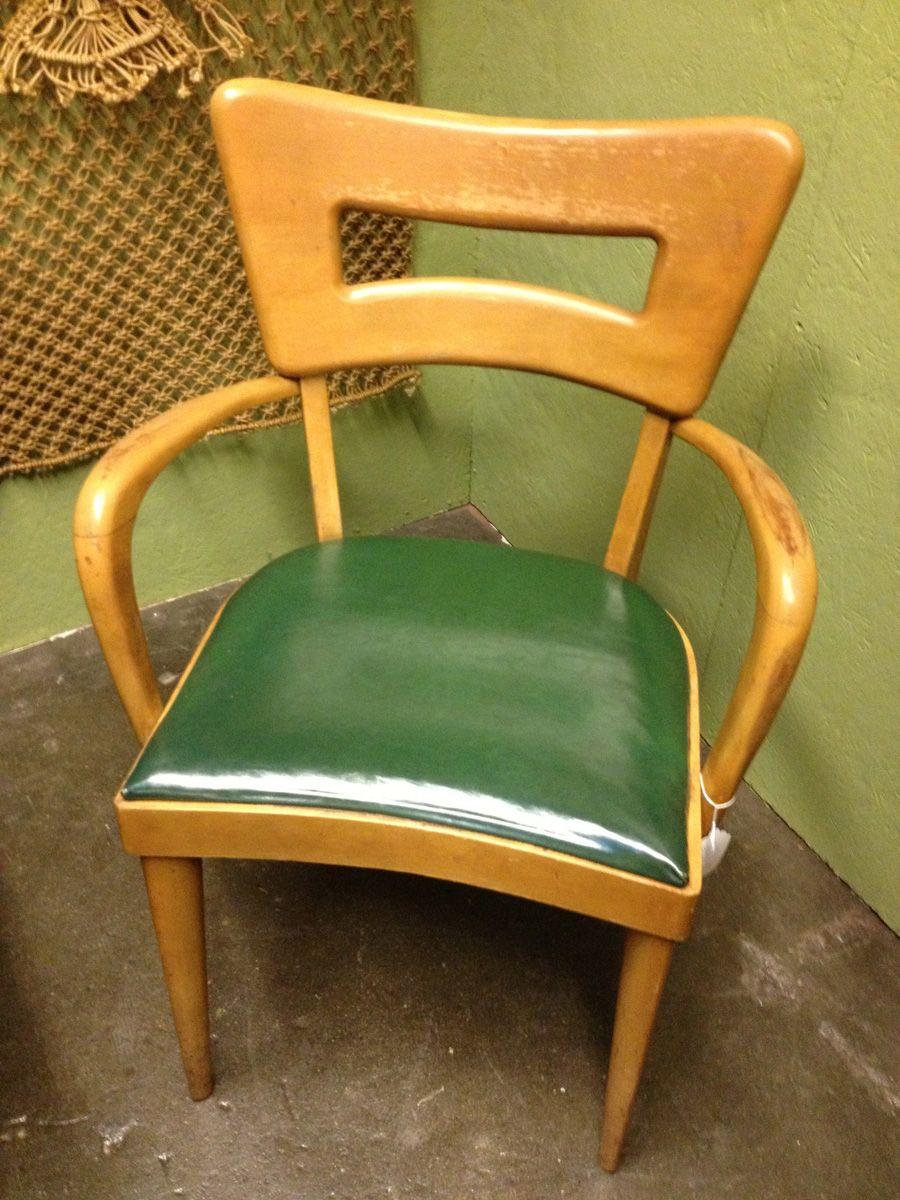 Heywood Wakefield Midcentury Modern Green Chair Heywood
