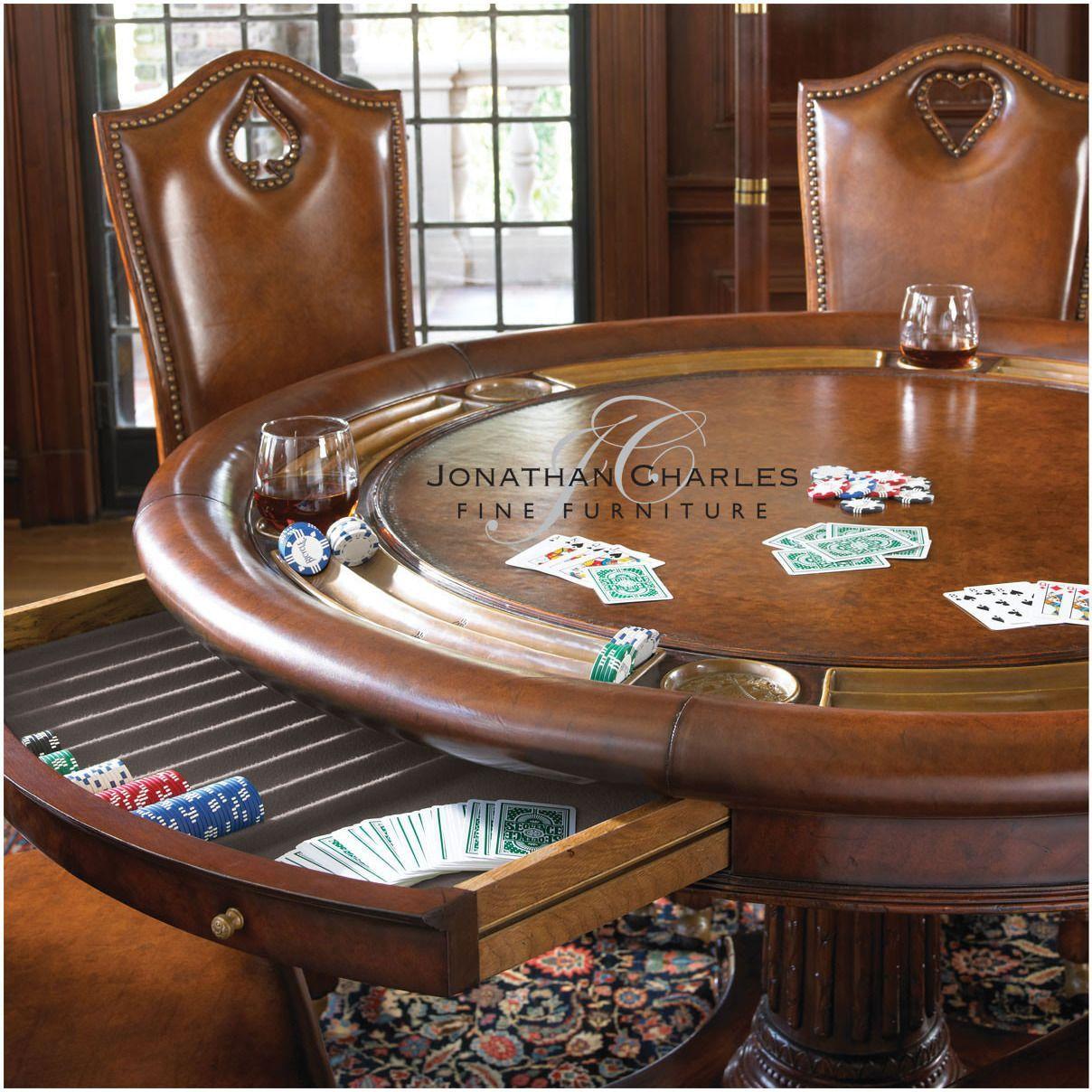 Mahogany Poker Table by Jonathan Charles in 2020 Poker