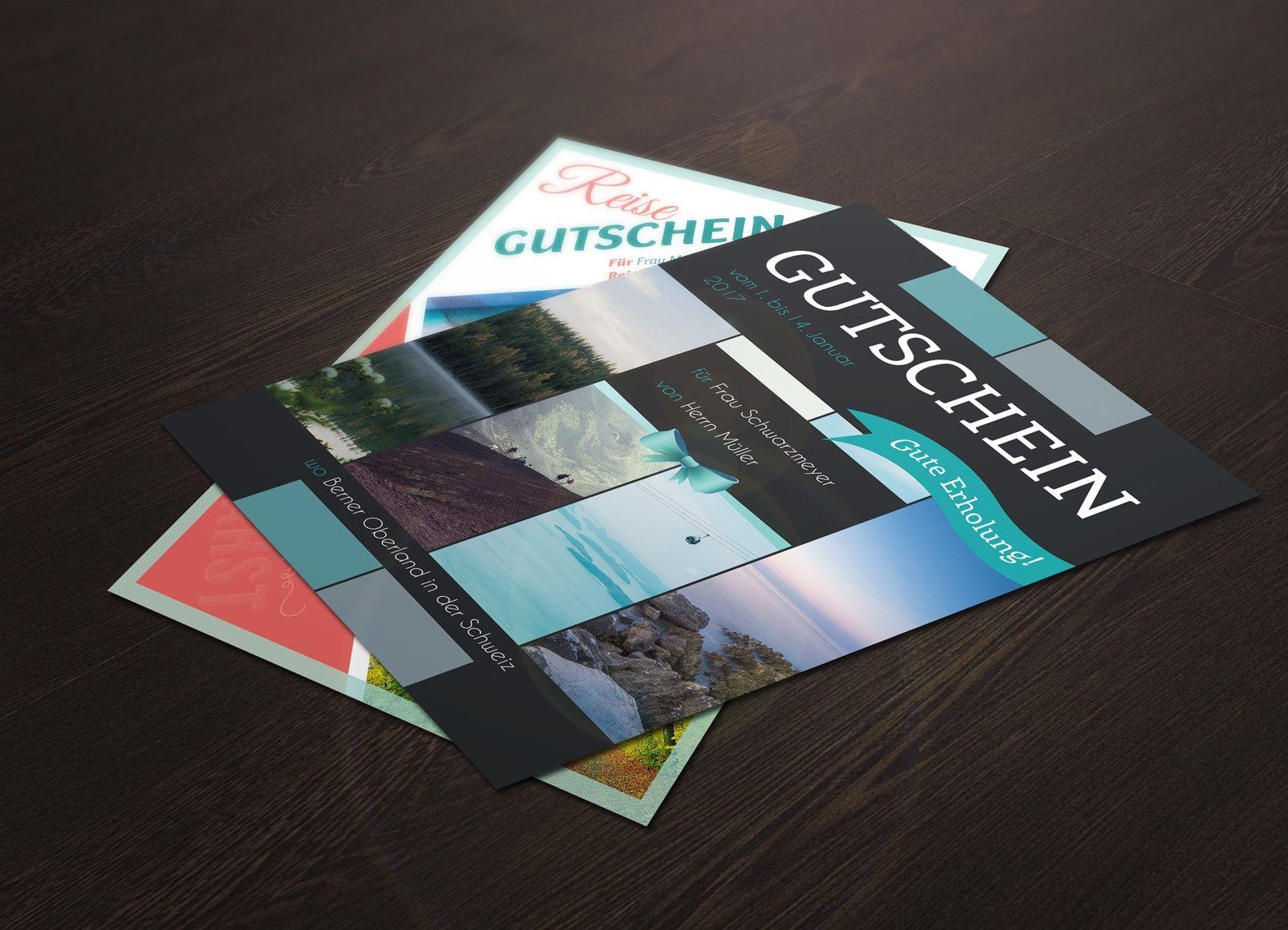 Vorlagen Geschenk Gutschein Fur Word Und Photoshop Gutschein Gestalten Designvorlagen Geschenkgutscheine
