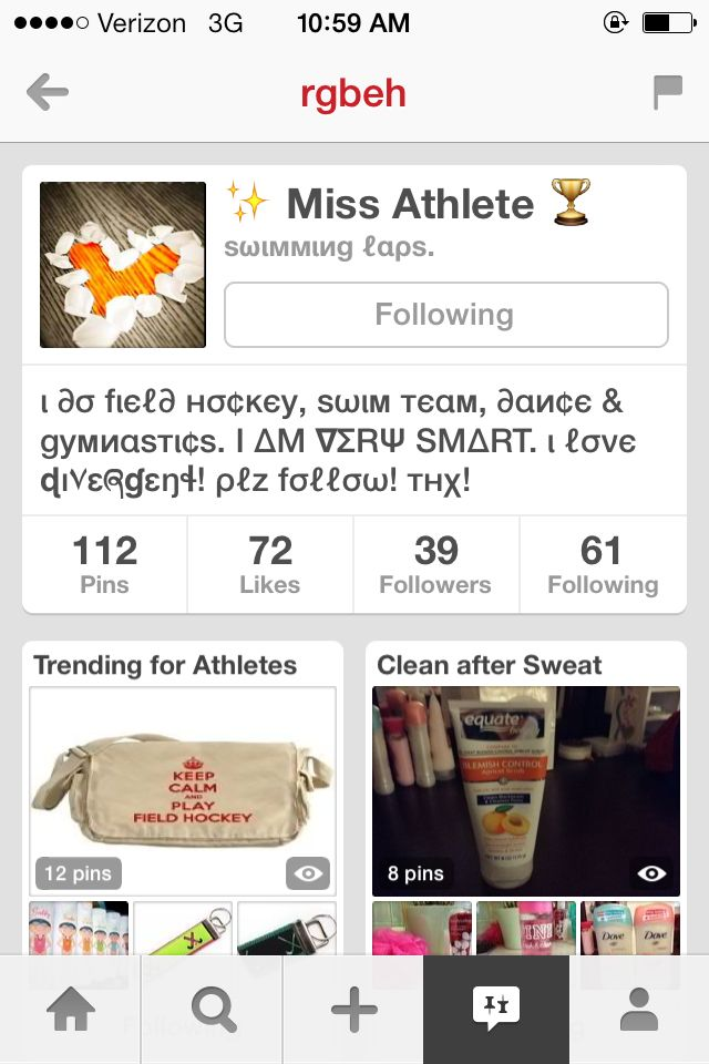 Follow Miss Athlete she has such amazing pins and boards help yourself and smack the follow button!