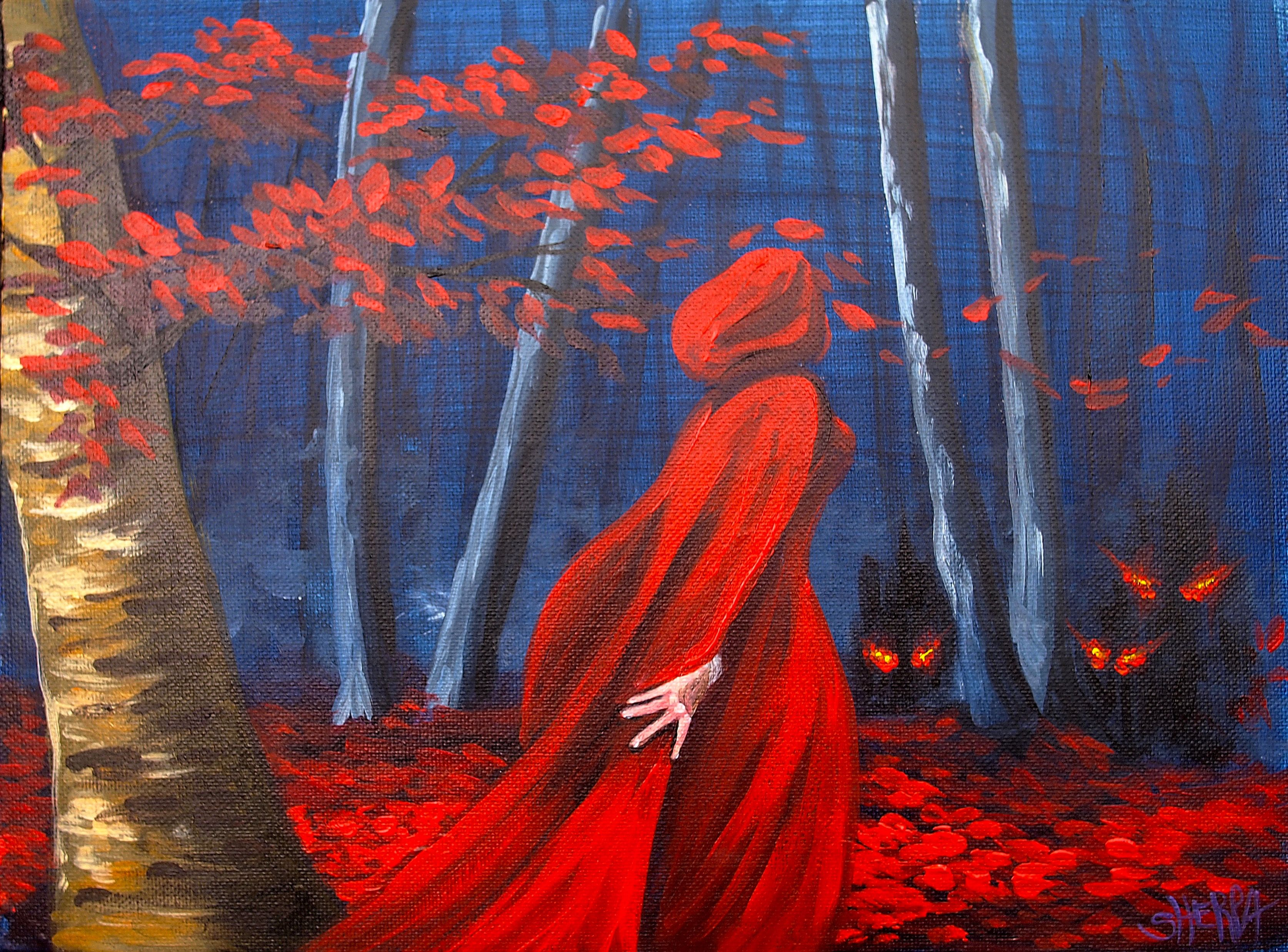 How To Paint Red Riding Hood By The Art Sherpa Abstract Art Painting Diy The Art Sherpa Painting