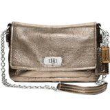 Coach Chelsea Leather Flap Shoulder Handbag Purse Bag 17808 Gunmetal
