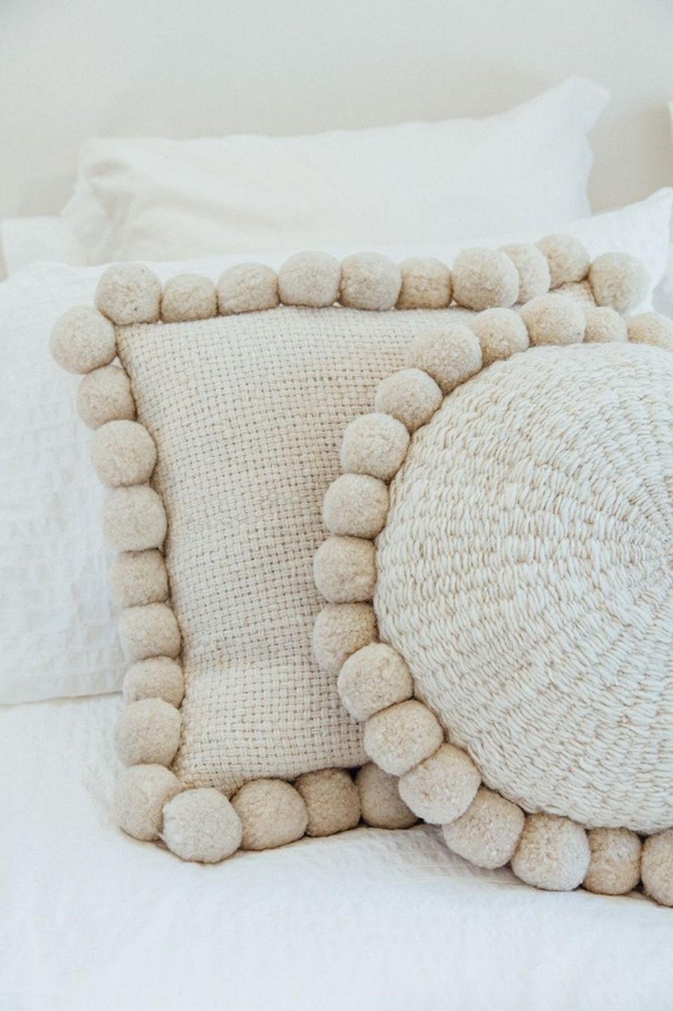 Freitag Style Pompom Cushion Pillows