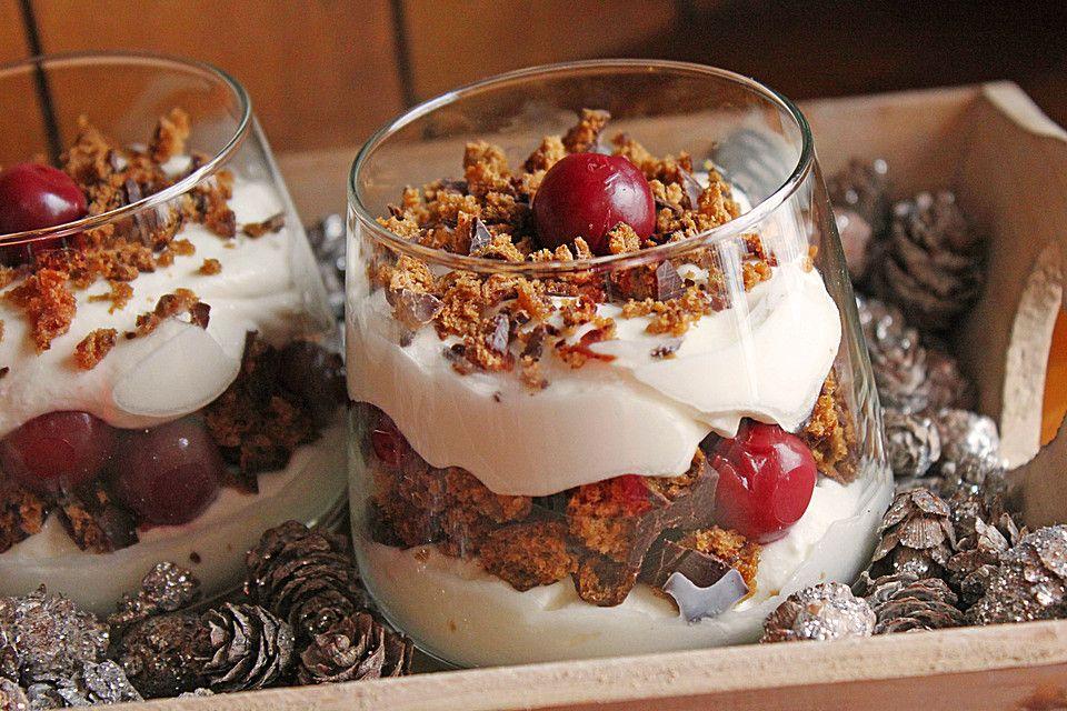 Weihnachtliches Lebkuchen - Schicht - Dessert #holidaydesserts