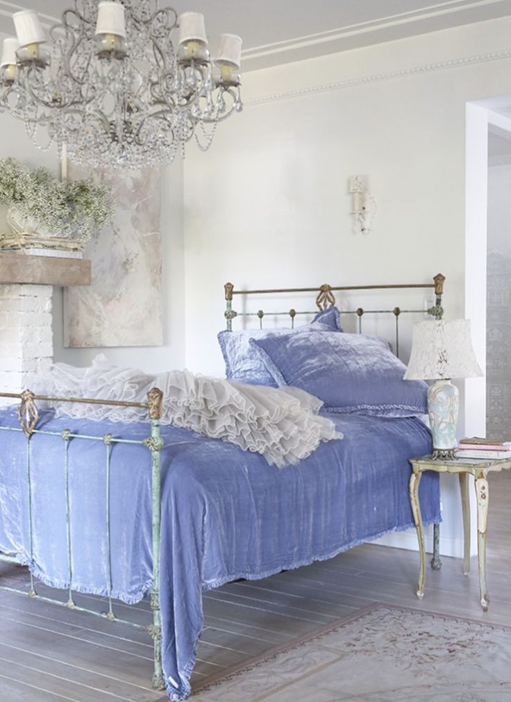 Periwinkle Cottage •~• bedroom | Shabby chic bedrooms | Pinterest