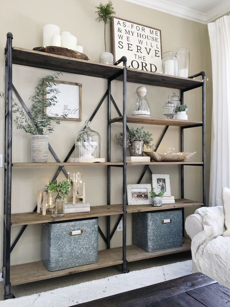 Simplified Shelves Pinterest Clutter Living Rooms And Room In Living Room Modern Farmhouse Living Room Decor Farmhouse Style Living Room Farm House Living Room