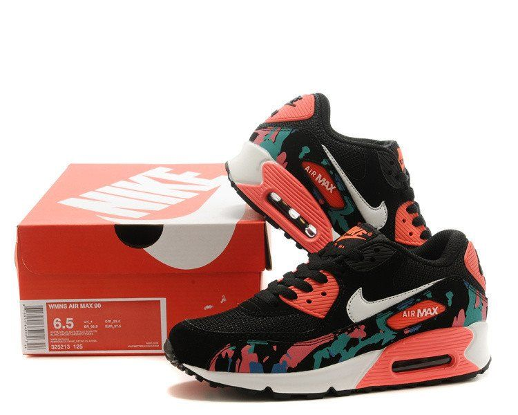 Nike Air Max 90 Watermelon Black Red Running Shoe | Nike air