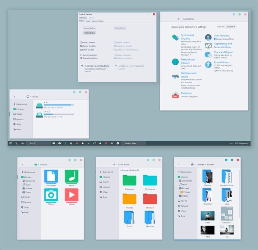 10 Free Windows Skins / Themes - Minimalist And Apple macOS