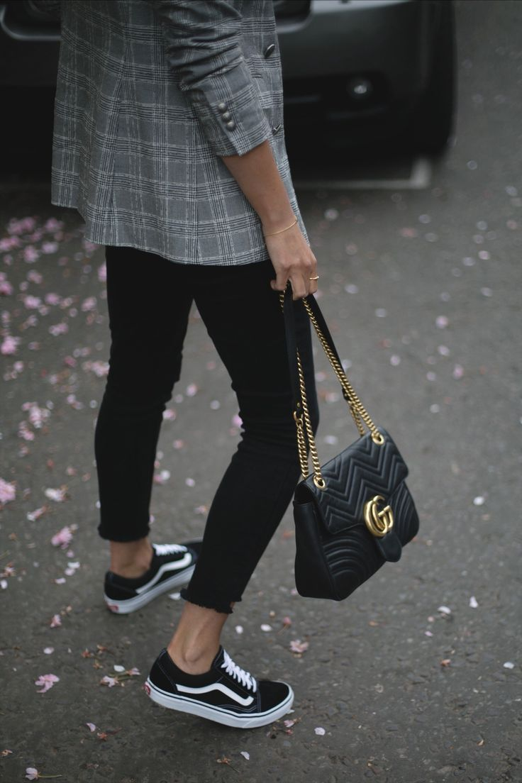 Vans #Authentic #Black #White #Sneakers #Street #Boys #Girls