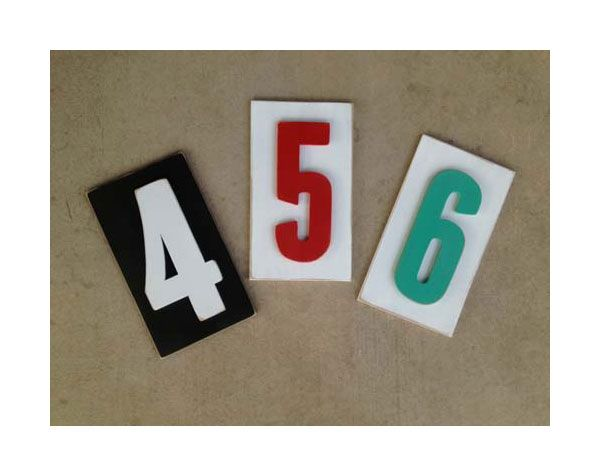 Pick a number...any number! Our popular numbers bring a vintage look to your home. All of our typography signs are individually cut, painted and assembled by hand to give them a unique look. This ...