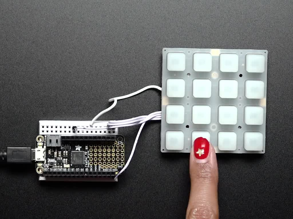NeoTrellis RGB Driver PCB for 4x4 Keypad | Components
