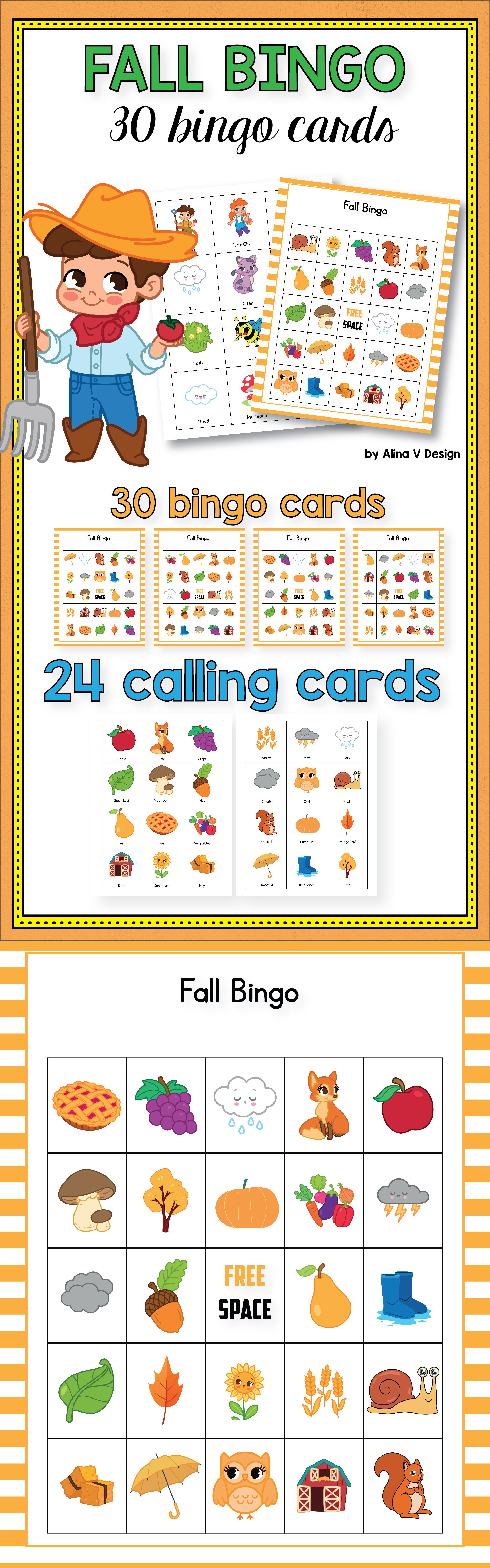 graphic about Fall Bingo Printable named Drop Bingo Playing cards Preschool - Autumn Bingo, Tumble Video games